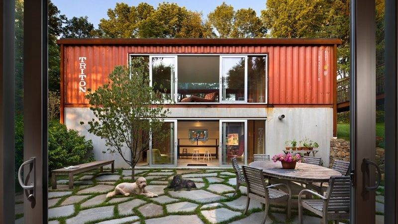 Adam Kalkin Double Storey Shipping Container House