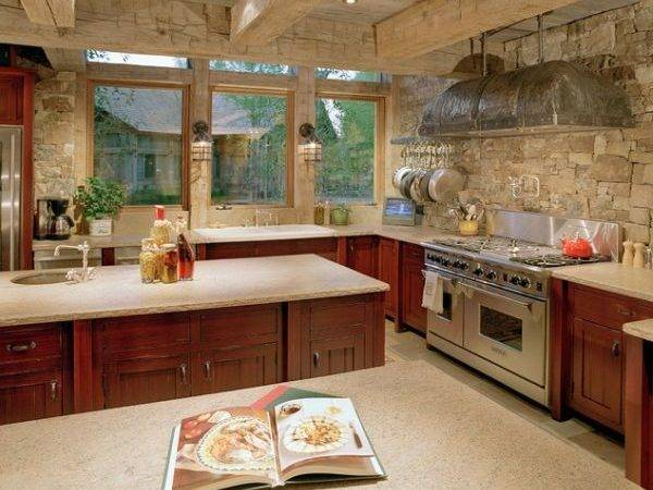 Add Some Rustic Charm Your Kitchen Stone Walls