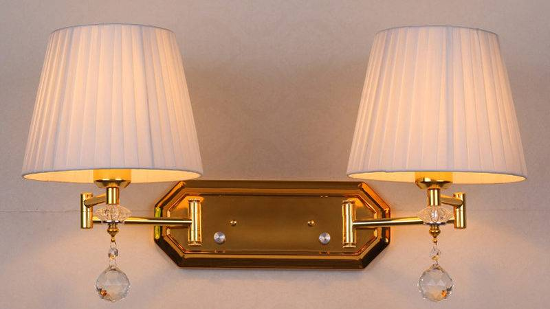 Adjustable Double Arm Wall Sconce Dimmer Switch Light