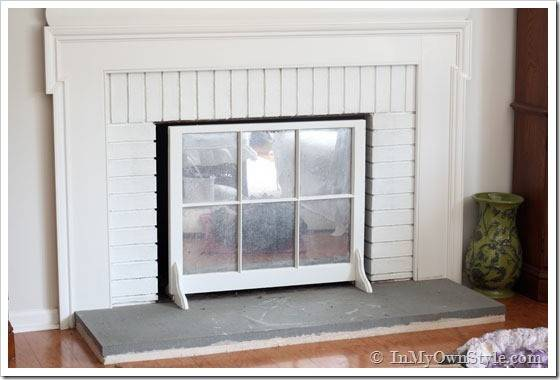 Airstone Fireplace Makeover Diy Budget Inmyownstyle