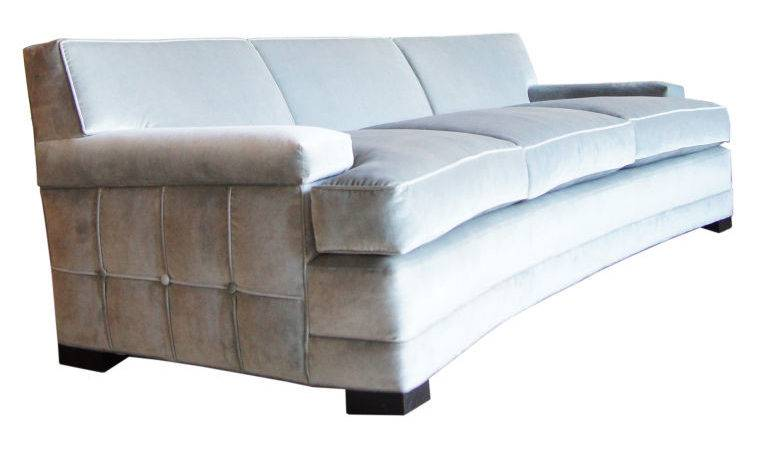 Alcyone Curved Grid Sofa Transitional Contemporary Sofas