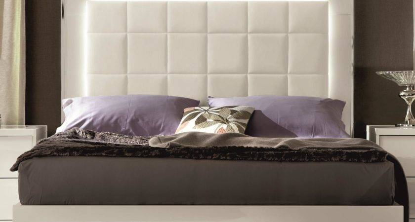 Alf Italia Imperia Queen Upholstered Bed Led Lights