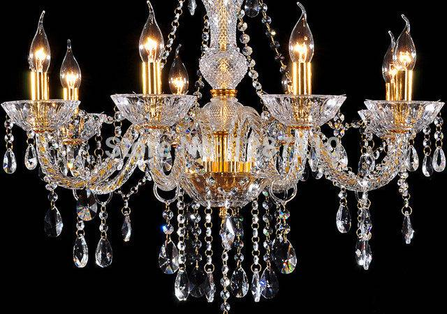 Aliexpress Buy Arms Gold Crystal Chandelier Lamp