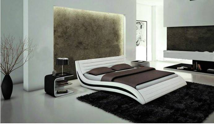 Aliexpress Buy Mybestfurn Italy Design Leather Bed