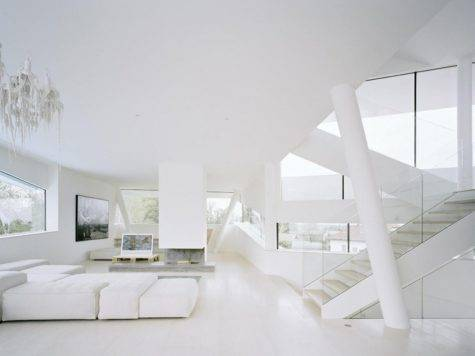 All White Interior Design Mixed Feng Shui