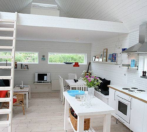 All White Tiny Home Interior Sweden House Pins