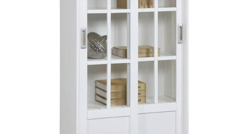 Altra Bookcase Sliding Glass Doors
