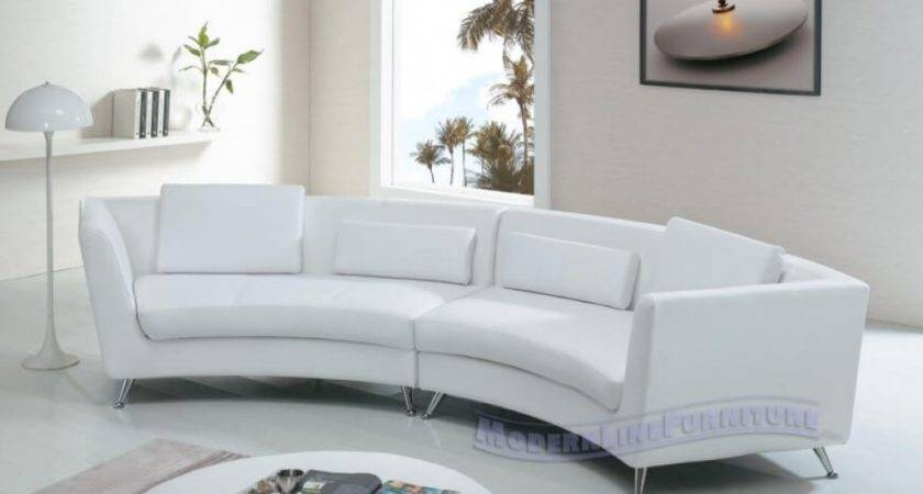 Amazing Curved Leather Sofas Contemporary