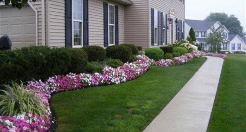 Amazing Excellent Front Flower Garden Design