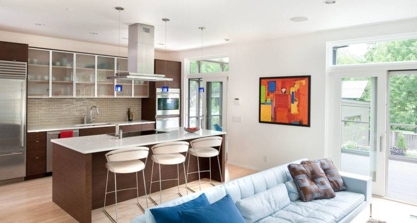 Amazing Ideas Design Kitchen Combined Living Room