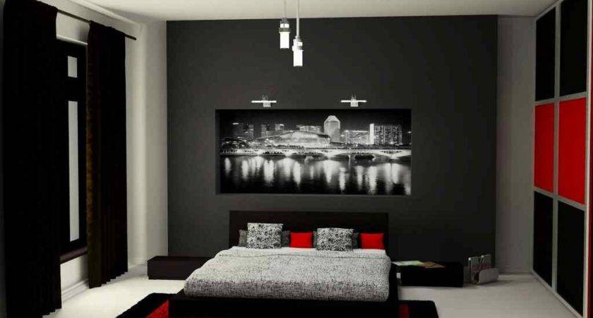 Amazing Red Black Bedroom Design Ideas