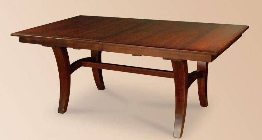 Amish Rectangle Dining Table Solid Wood Modern Casual