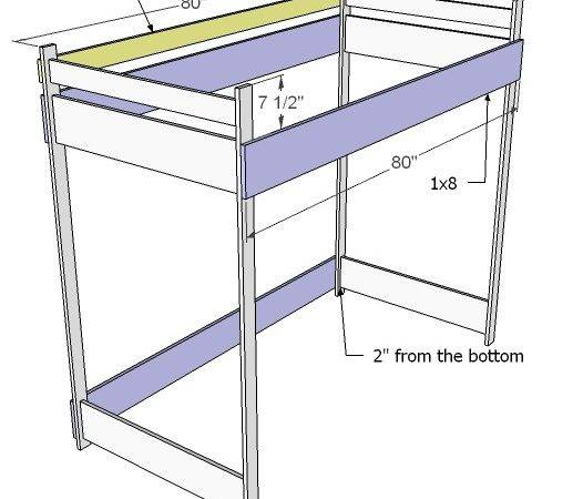 Ana White Build Loft Bed Diy Projects