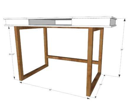 Ana White Modern Desk Base Build Your Own Study