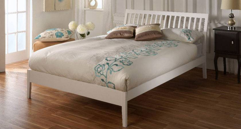 Ananke Small Double White Wooden Bed