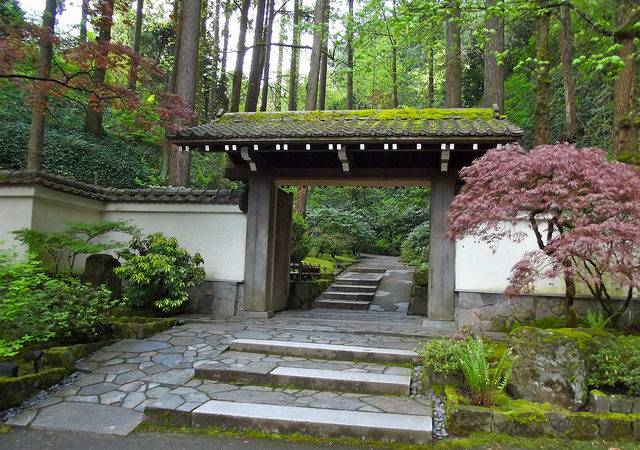 Antique Japanese Gate Nestled Scenic West Hills