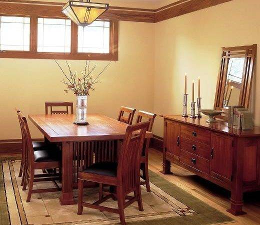 Antique Mission Style Dining Room Furniture