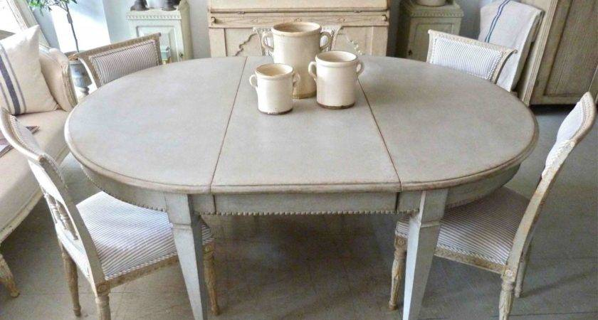 Antique Swedish Gustavian Style Dining Table Furniture