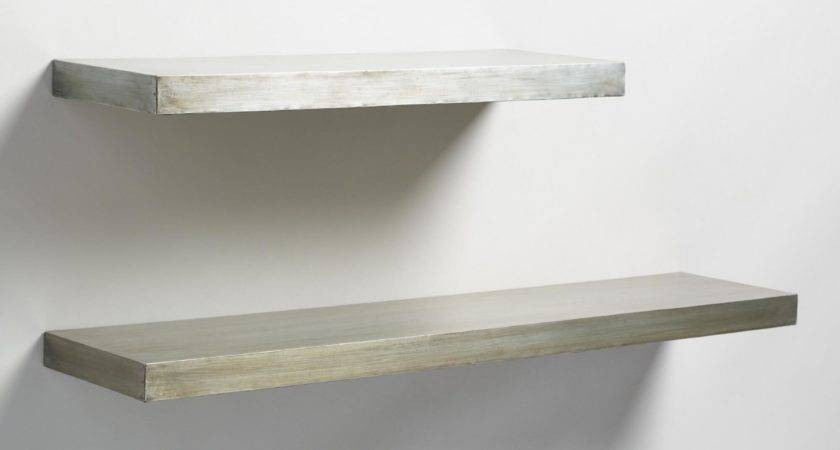 Antique Zinc Floating Ledge Wall Shelf World Market