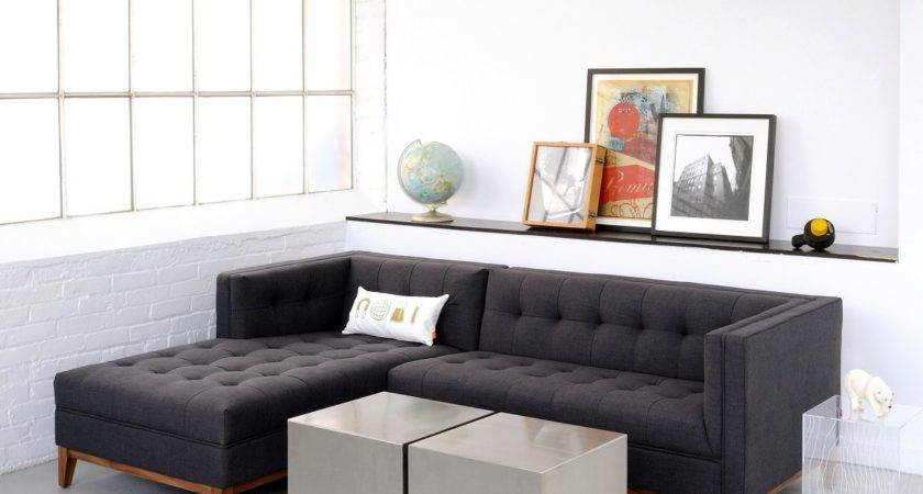 Apartment Leather Sofa Sectional Hereo