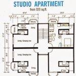 Apartment Sale Melingsung Studio Plan Layout