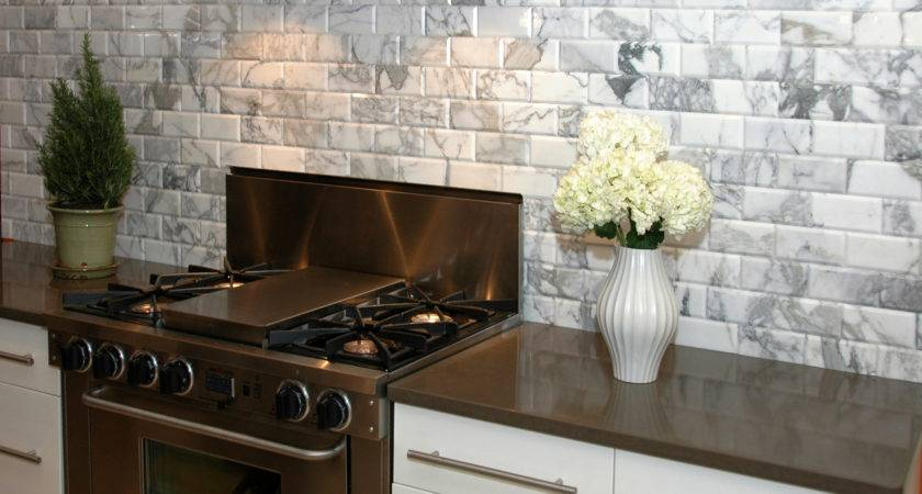 Appealing Stones Subway Tile White Kitchen Backsplash