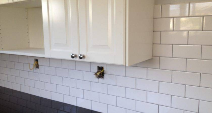 Appealing White Subway Tile Backsplash Grout Color