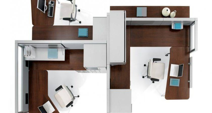 Architecture Charming Office Space Design White
