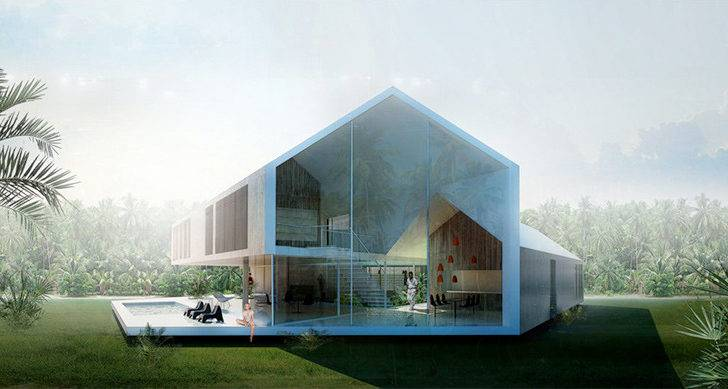 Architecture Triangular House