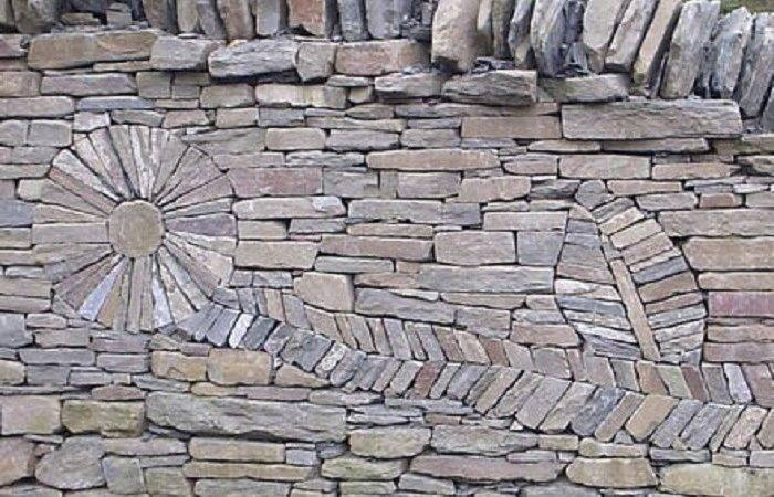Art Dry Stack Stone Wall Insteading