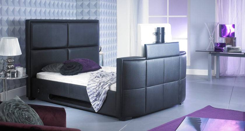 Artisan Double Leather Bed Black