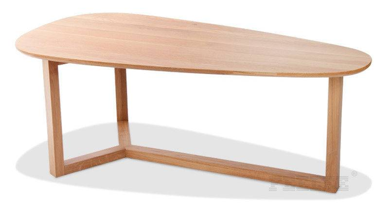 Ash Wood Coffee Table Round Small Few Modern