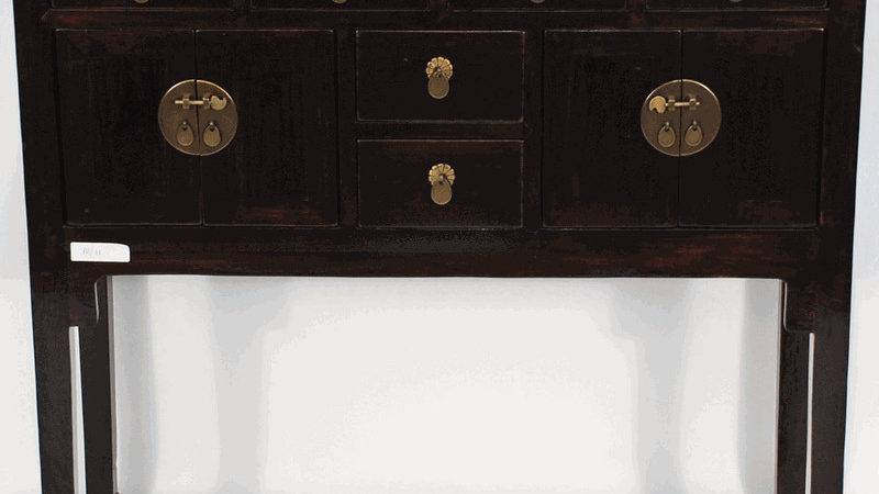 Asian Furniture Inspired Console Table Cabinet