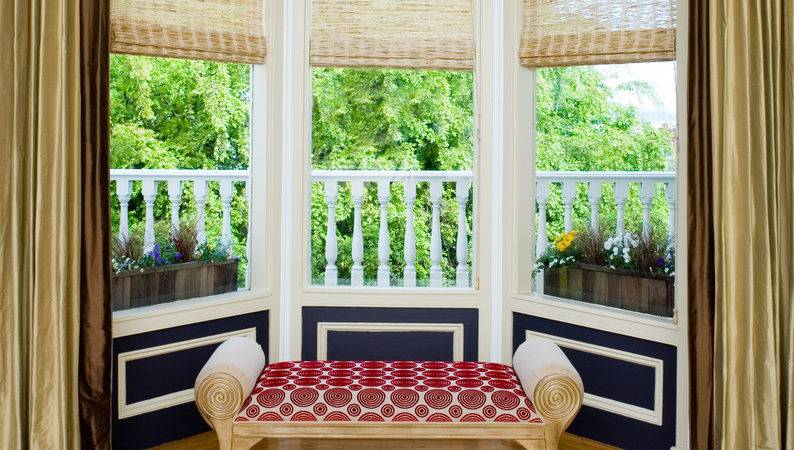 Astonishing Bay Window Treatments Decorating Ideas