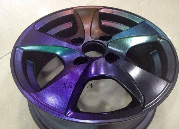 Automotive Wheel Spray Film Chameleons Change Color