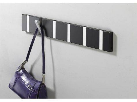 Awesome Flip Out Wood Retractable Coat Hook Design