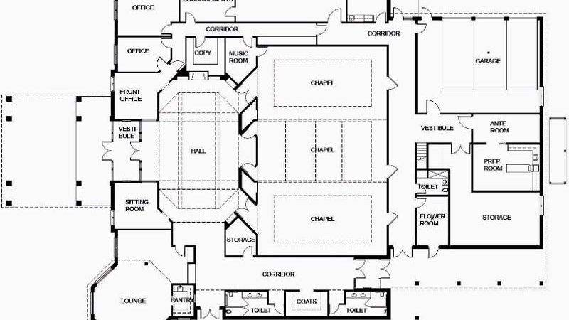 Awesome Funeral Home Floor Plans New Design