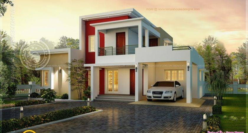 Awesome Modern House Square Meter Indian Plans