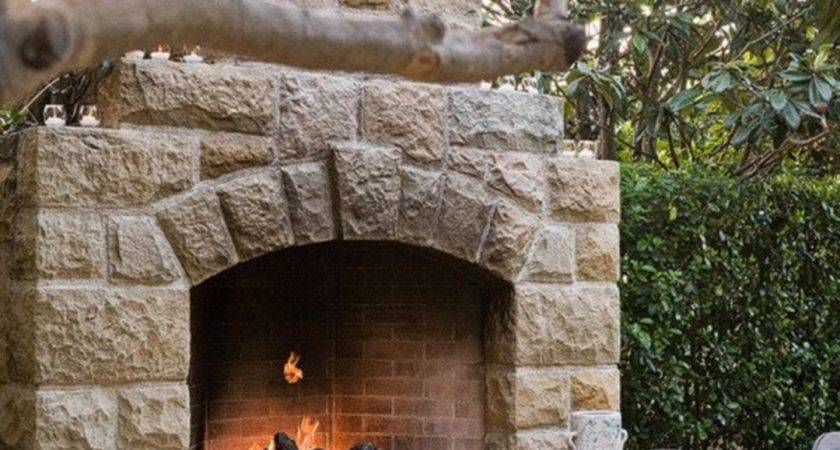 Awesome Stone Rustic Outdoor Fireplace Fres Hoom