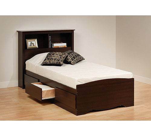 Awesome Twin Bed Headboard Mates Bookcase