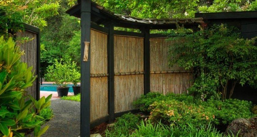 Bamboo Fence Ideas Residential Houses