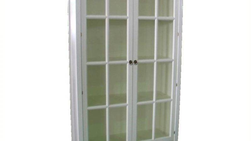 Barrister Bookcase Glass Door White