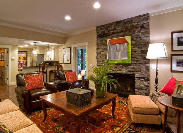 Basement Living Room Blog Cabin Diy Network