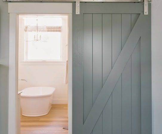 Bathroom Barn Door Cottage Designs