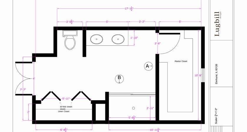 Bathroom Design Master Layout Sketch