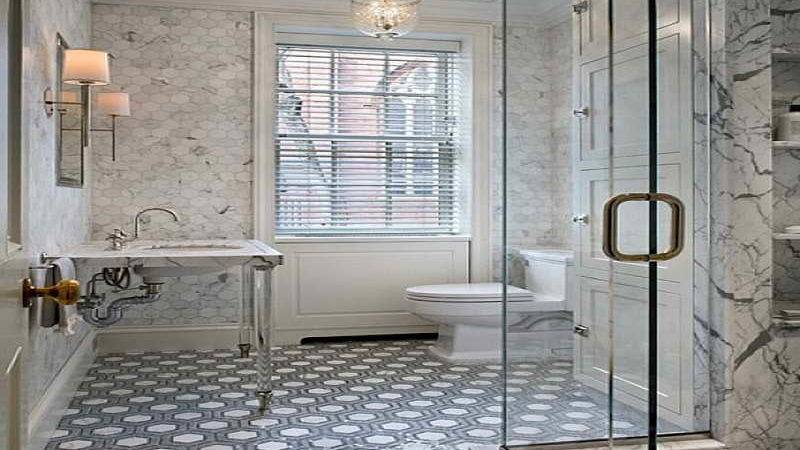 Bathroom Glass Tile Flooring Ideas