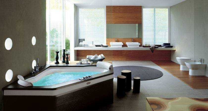 Bathroom Jacuzzi Ideas Decoration Beautification