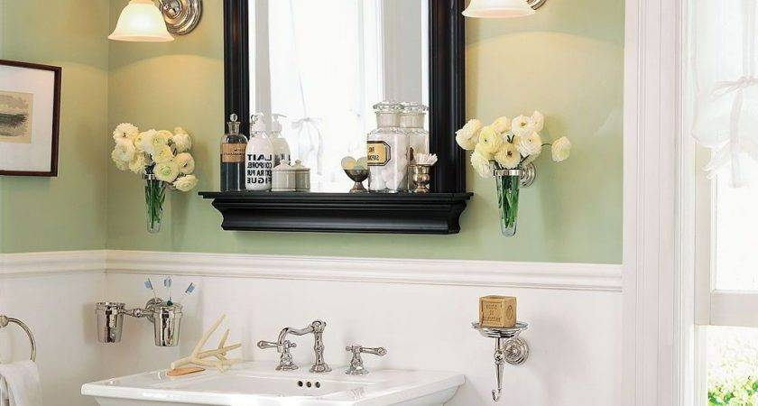 Bathroom Mirror Ideas Diy White Rectangle Porcelain Vessel