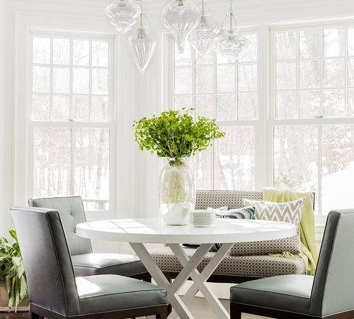 Bay Window Built Dining Bench Transitional