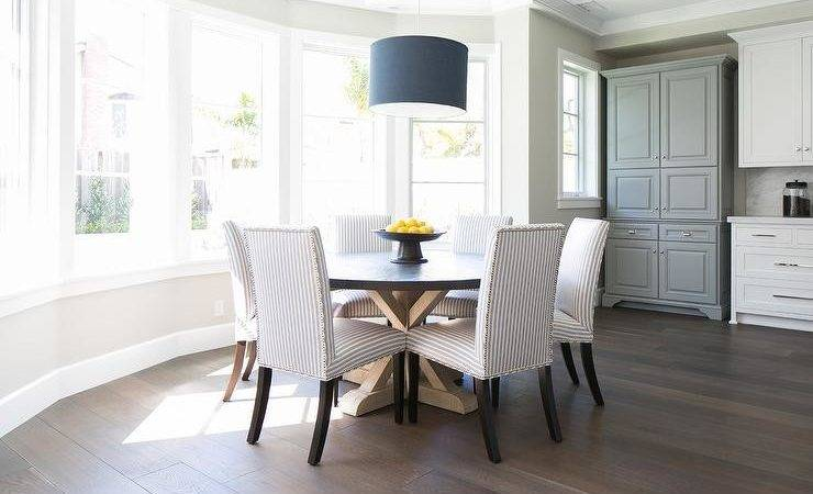 Bay Window Dining Table Transitional Kitchen